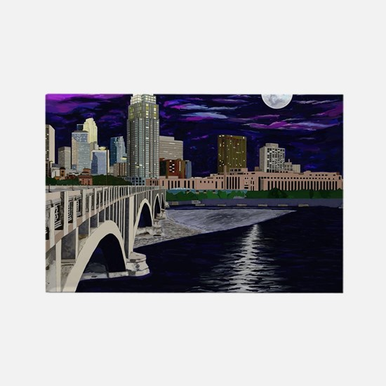 Moon Over Minneapolis Magnets