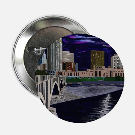 """Moon Over Minneapolis 2.25"""" Button (100 pack)"""