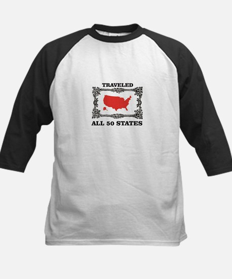 red traveled USA Baseball Jersey