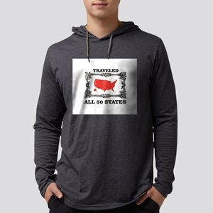 red traveled USA Long Sleeve T-Shirt