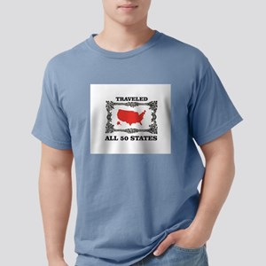 red traveled USA T-Shirt