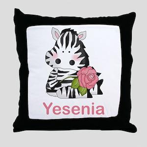 Yesenia's Zebra Rose Throw Pillow