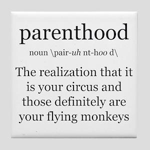 Definition of Parenthood Tile Coaster