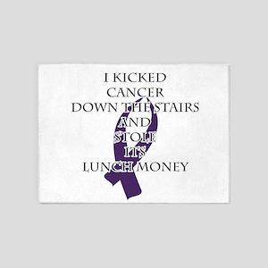 Cancer Bully (Purple Ribbon) 5'x7'Area Rug