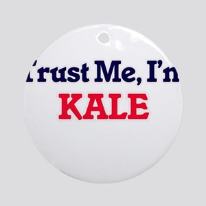Trust Me, I'm Kale Round Ornament