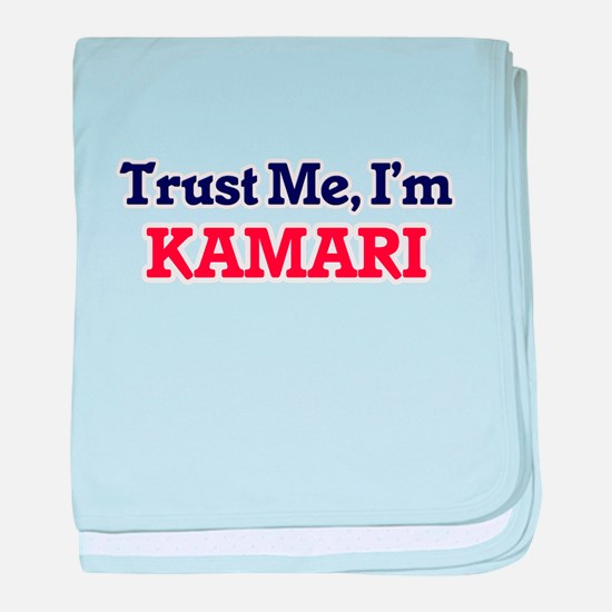 Trust Me, I'm Kamari baby blanket