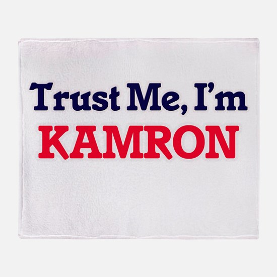 Trust Me, I'm Kamron Throw Blanket