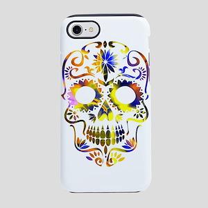 Blue & Yellow Sugar Skul iPhone 8/7 Tough Case