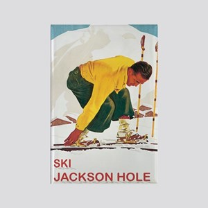 Ski Jackson Hole Rectangle Magnet