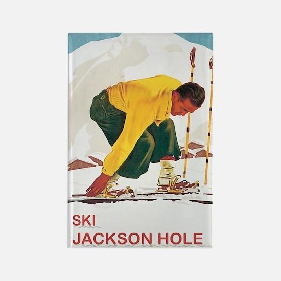 Ski Jackson Hole Rectangle Magnet