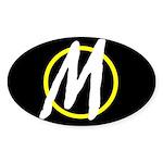 Minarchy Oval Sticker