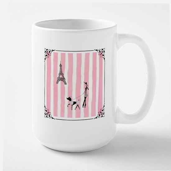 A walk in Paris Pink Stainless Steel Travel Mugs