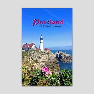 Portland Lighthouse Mini Poster Print