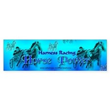 Blue Harness Racing Bumper Sticker
