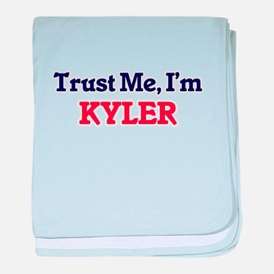 Trust Me, I'm Kyler baby blanket