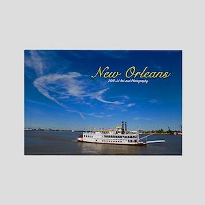 New Orleans Paddleboat Rectangle Magnet Magnets