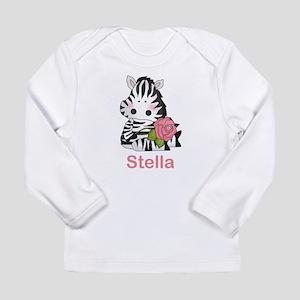 Stella's Zebra Rose Long Sleeve Infant T-Shirt