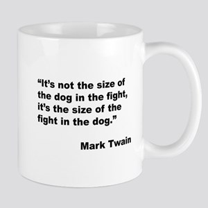 Mark Twain Dog Size Quote Mugs
