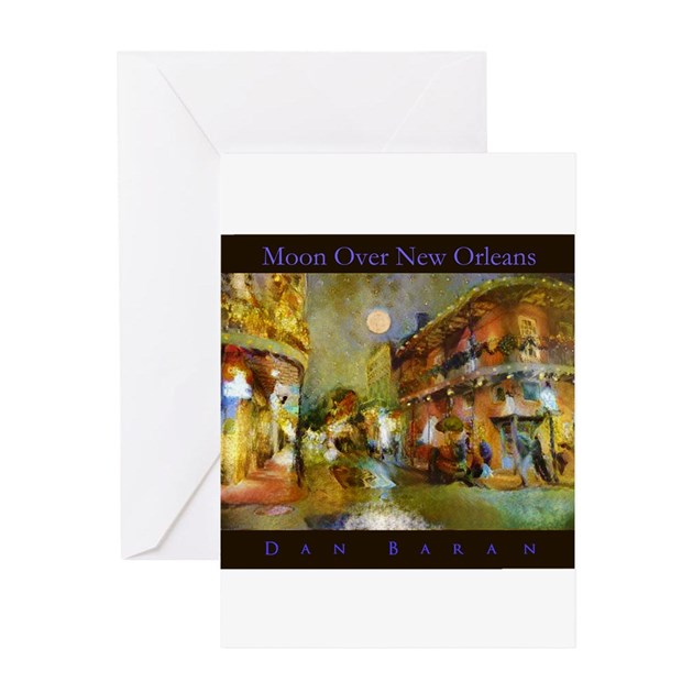 Mooning Over New Missoni: Moon Over New Orleans Greeting Cards By MoonOverNewOrleans