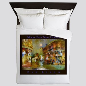Moon Over New Orleans Queen Duvet