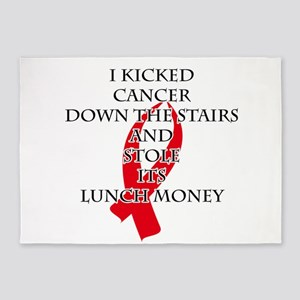 Cancer Bully (Red Ribbon) 5'x7'Area Rug