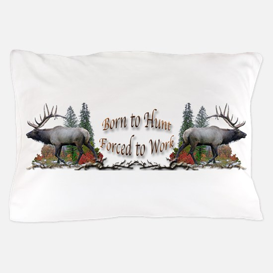 Bull elk and work Pillow Case