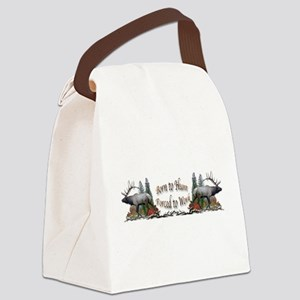 Bull elk and work Canvas Lunch Bag