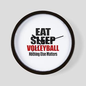 Eat Sleep Volleyball Wall Clock