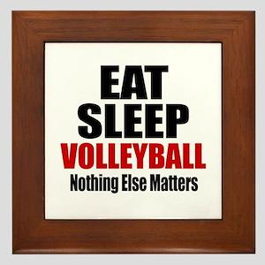 Eat Sleep Volleyball Framed Tile