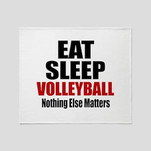 Eat Sleep Volleyball Throw Blanket
