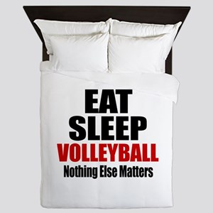 Eat Sleep Volleyball Queen Duvet