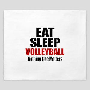 Eat Sleep Volleyball King Duvet