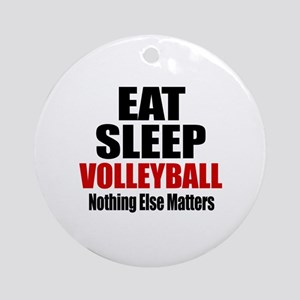 Eat Sleep Volleyball Round Ornament