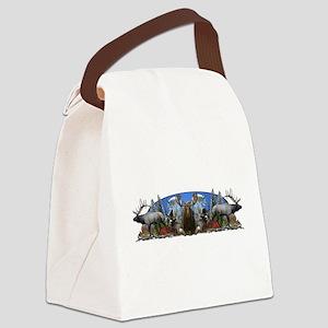 Elk,deer,moose,goat Canvas Lunch Bag