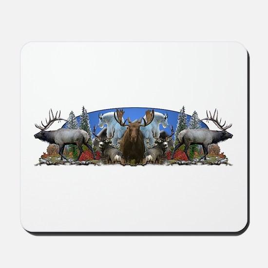 Elk,deer,moose,goat Mousepad