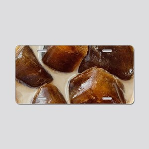 Mocha Iced Coffee Aluminum License Plate