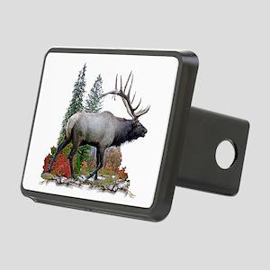 Bull elk r Rectangular Hitch Cover