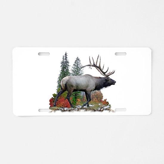 Bull elk r Aluminum License Plate