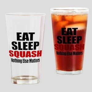 Eat Sleep Squash Drinking Glass