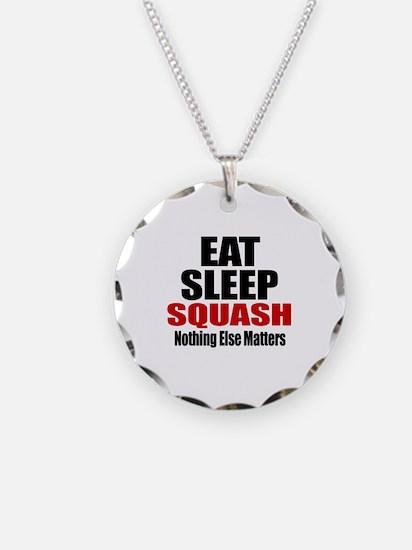 Eat Sleep Squash Necklace