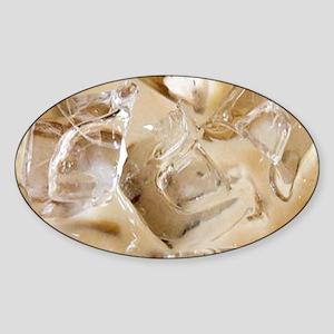 Vanilla Iced Coffee Sticker (Oval)