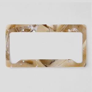 Vanilla Iced Coffee License Plate Holder