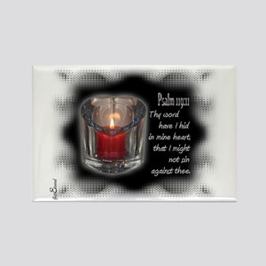 Psalm 119:11 Rectangle Magnet