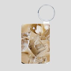 Vanilla Iced Coffee Aluminum Photo Keychain