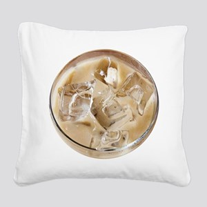 Vanilla Iced Coffee Square Canvas Pillow