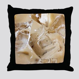 Vanilla Iced Coffee Throw Pillow