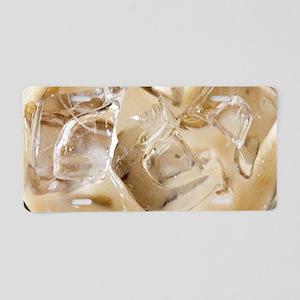 Vanilla Iced Coffee Aluminum License Plate