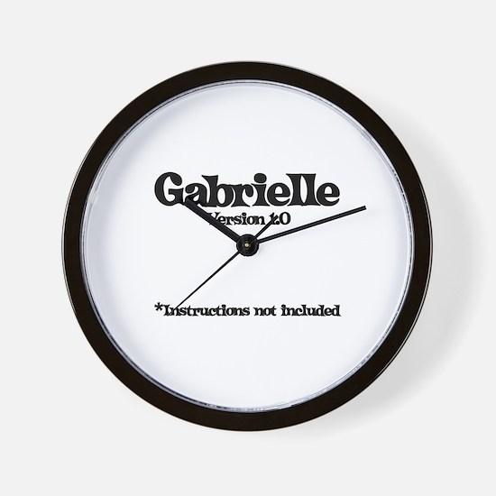 Gabrielle Version 1.0 Wall Clock