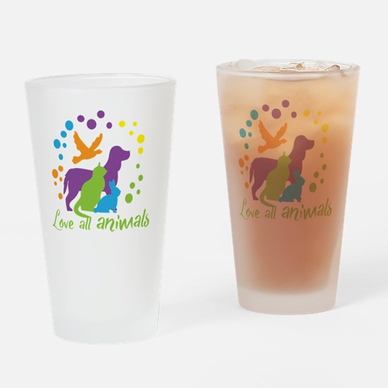 Cute Rescue animals Drinking Glass