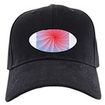 Circle of Iridescent Hearts Black Cap with Patch